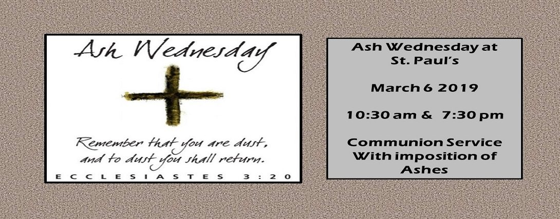 Ash Wednesday at St. Pauls